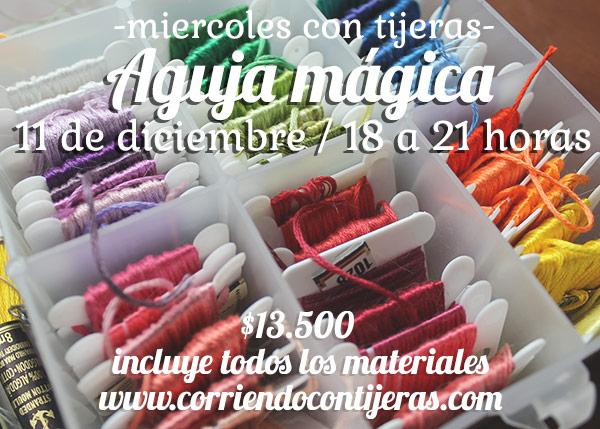 Inscríbete al taller de aguja mágica del 11 de diciembre