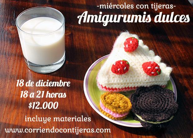 Inscríbete al taller de dulces y pasteles amigurumis
