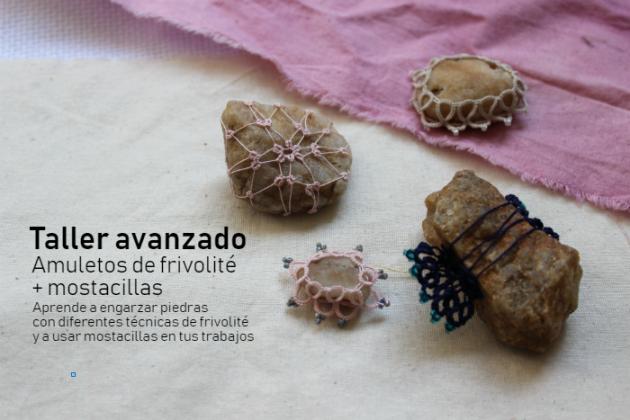 Taller de amuletos a frivolité + mostacillas