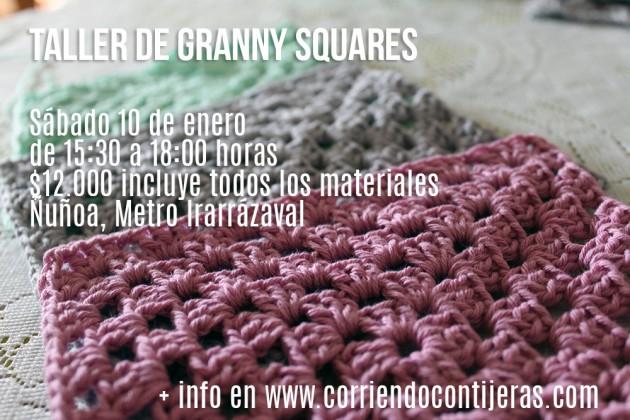 Sábado 10 de enero: taller de granny squares | Corriendo con Tijeras