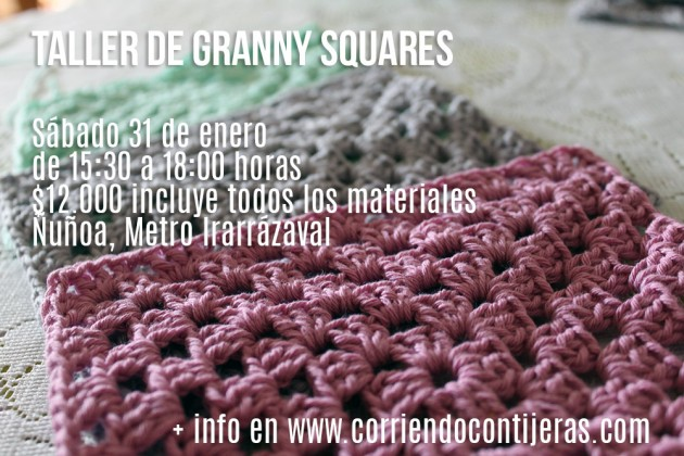 Sábado 31 de enero: taller de granny squares básico y avanzado