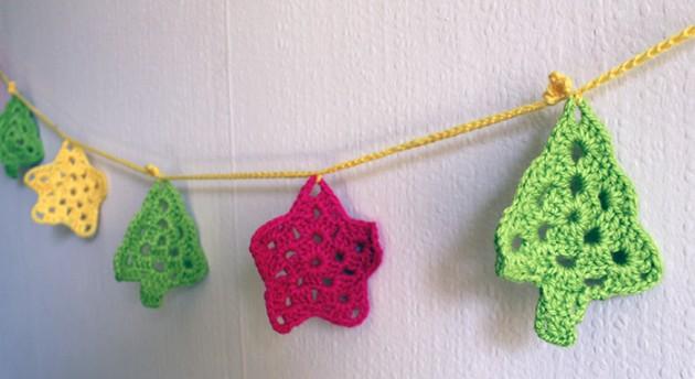 guirnalda navideña crochet
