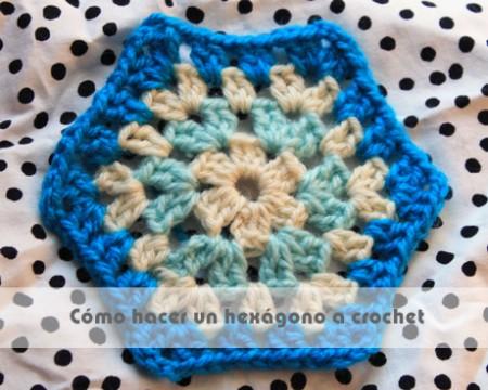 cómo hacer un hexágono a crochet