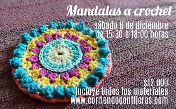 Sábado 6 de diciembre: taller de mandalas a crochet