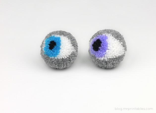 pompones ojo