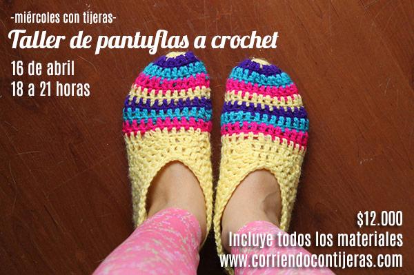 Taller de pantuflas a crochet