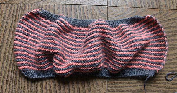 cómo hacer calcetines dos colores
