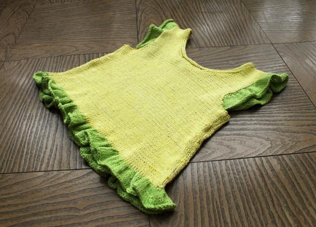 cómo tejer una polera a palillos con algodón