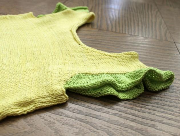 camisola para niña tejida instrucciones