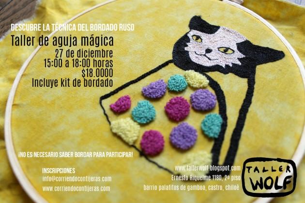 Sábado 27 de diciembre: taller de aguja mágica en Castro, Chiloé