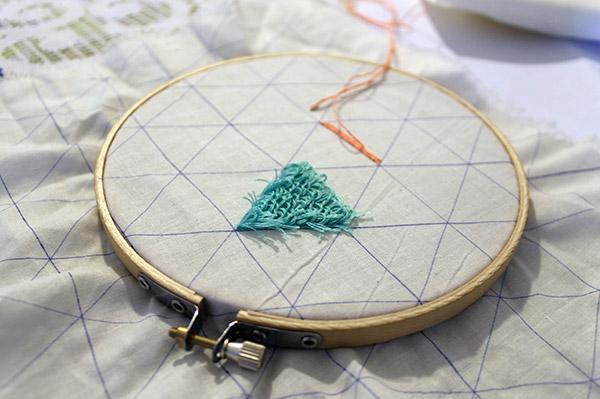 proyecto alumna taller de bordado punto turco