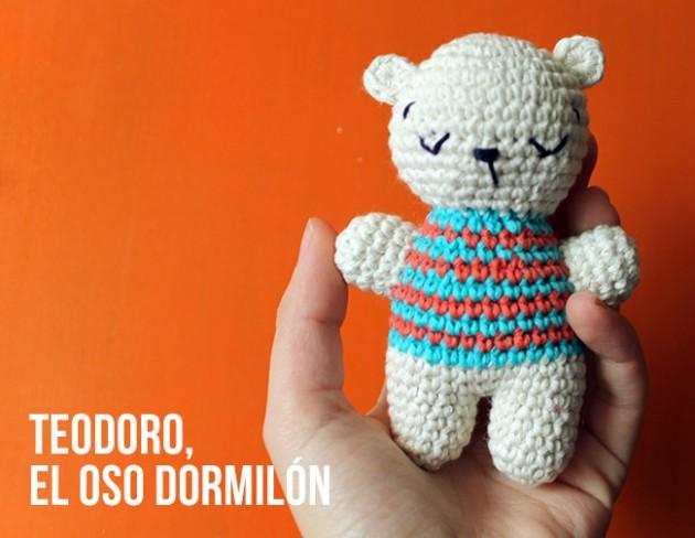 Patrón amigurumi: Teodoro, el oso dormilón
