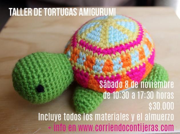 taller para tejer una tortuga amigurumi