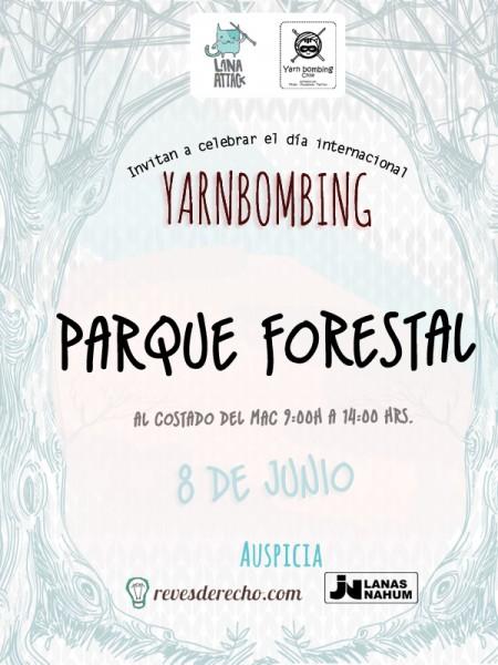 Celebra el día del yarnbombing con LanaAttack y Yarnbombing Chile