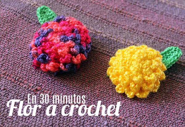 Instrucciones flor a crochet