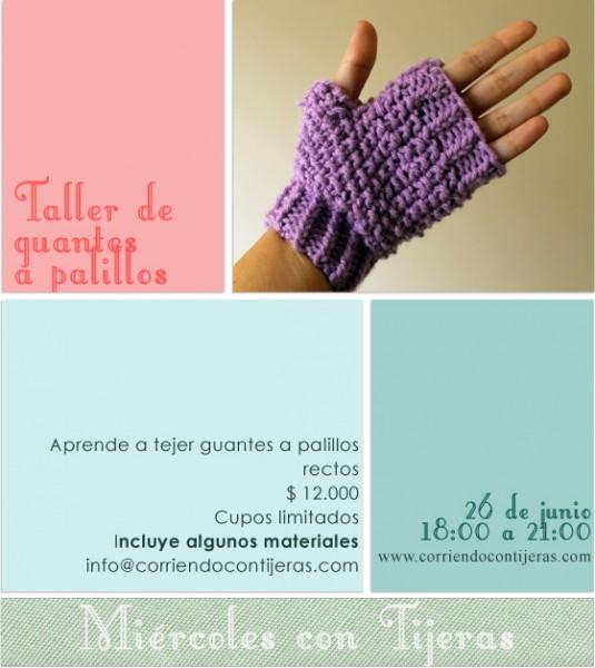 taller de guantes a palillos